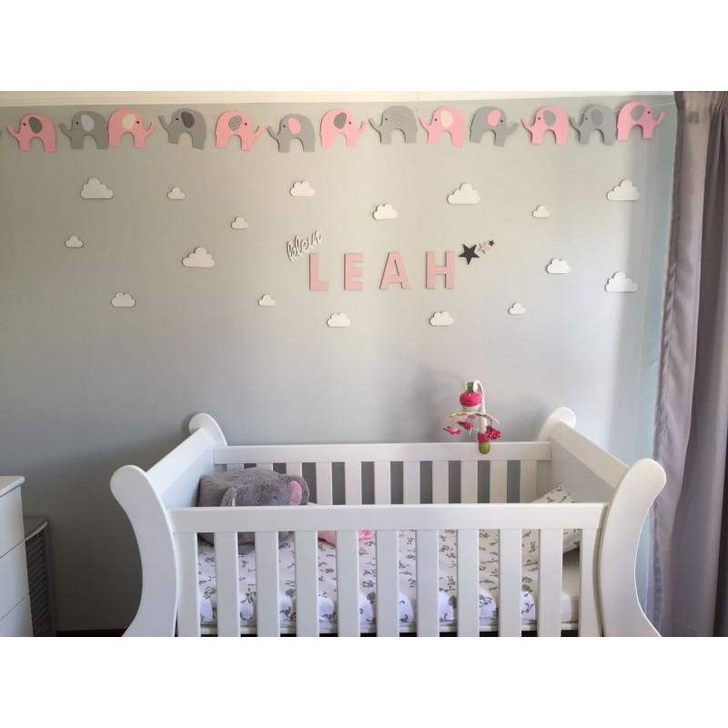 Baby Name Nursery Decor Set