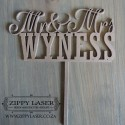 Mr & Mrs Surname cake topper