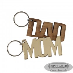 Mom & Dad Keyring set