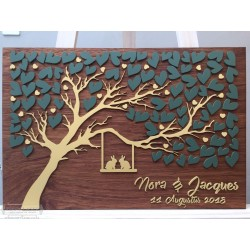 Heart Leaf Tree Guest book