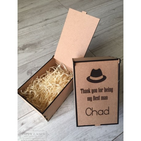 Wooden personalised engraved gift box