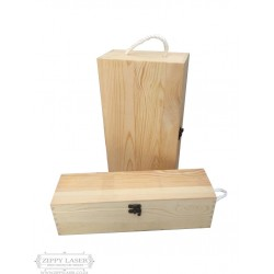 Wooden wine box with latch