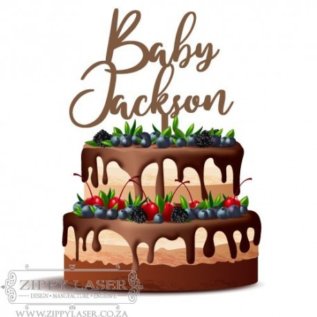 CT003 Cake topper - Baby