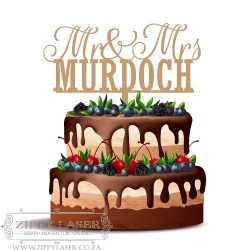 CT009 Cake topper - Mr & Mrs