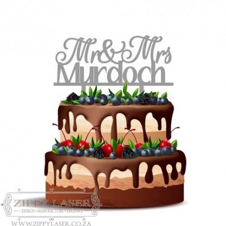 CT009b Cake topper - Mr & Mrs