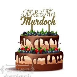CT012 Cake topper - Mr & Mrs