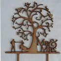 Mr & Mrs Dancing Tree Cake topper