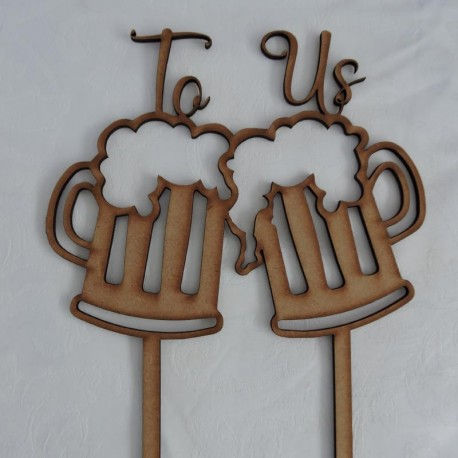 Cheers to us! Cake topper