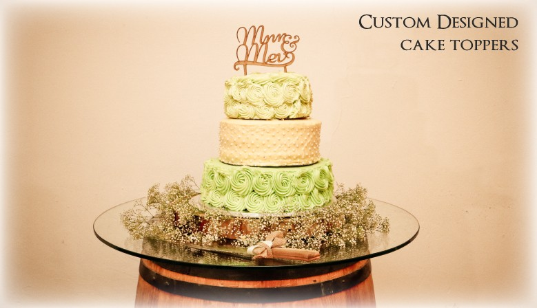 We will design a cake topper for you from scratch!